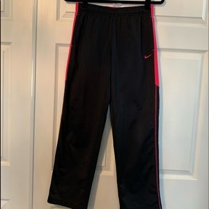 Girls Nike pink and black sweatpants